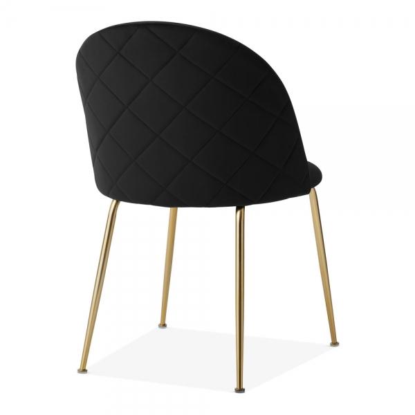 Wondrous Heather Dining Chair Velvet Upholstered Onyx Black Dailytribune Chair Design For Home Dailytribuneorg