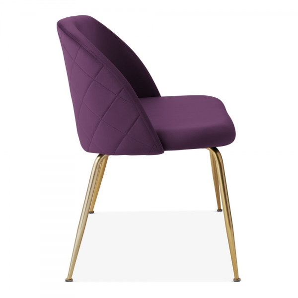 Cool Heather Loveseat Sofa Velvet Upholstered Purple Ibusinesslaw Wood Chair Design Ideas Ibusinesslaworg