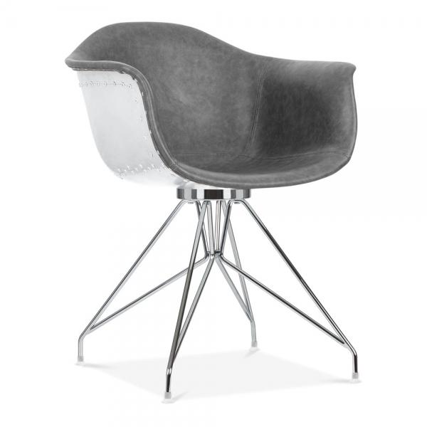Wondrous Moda Aviator Armchair Cd1 Vintage Grey Faux Leather Beatyapartments Chair Design Images Beatyapartmentscom