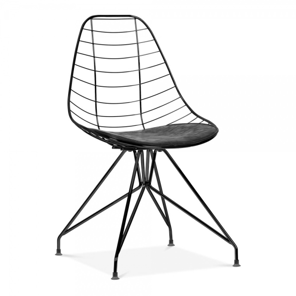 Black Moda Wire Metal Dining Chair Cd6 Designer Dining