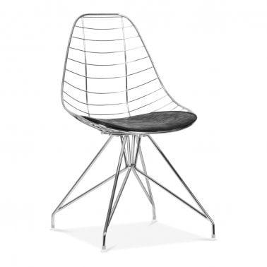 Moda Wire Metal Dining Chair CD6, Chrome