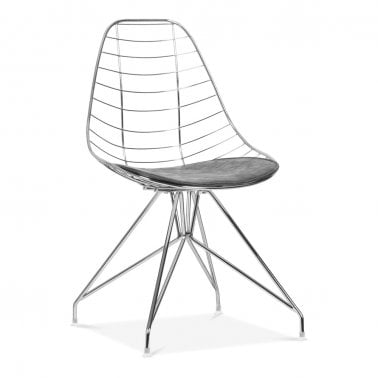 Superbe Moda Wire Metal Dining Chair CD6, Chrome