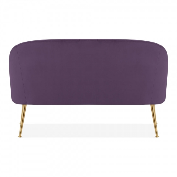 Excellent Venice 2 Seater Loveseat Sofa Velvet Upholstered Purple Gmtry Best Dining Table And Chair Ideas Images Gmtryco