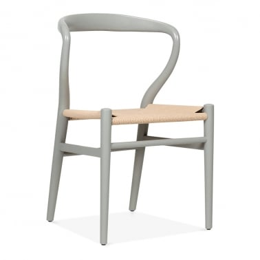 Curva Dining Chair - Grey / Natural Seat