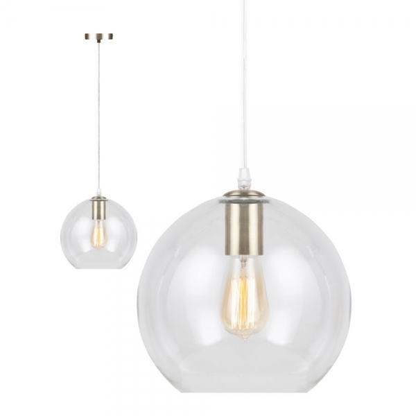 Dana Modern Gl Pendant Light Clear