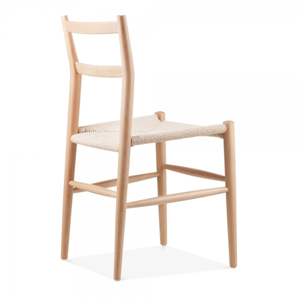 Leon Wooden Dining Chair With Woven Seat Natural Cult Uk