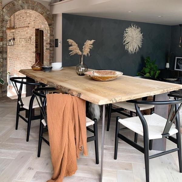 Hans Wegner Style Wishbone Dining Chair, Black Wishbone Chairs Dining Room
