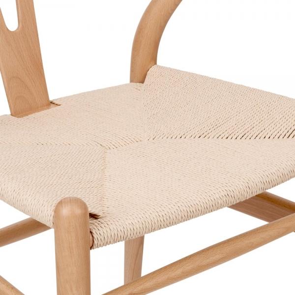 Hans Wegner Style Wishbone Chair In Natural Wood Cult Furniture