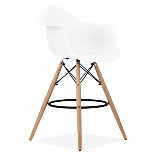 Iconic Designs DAW Style Stool - White 68cm