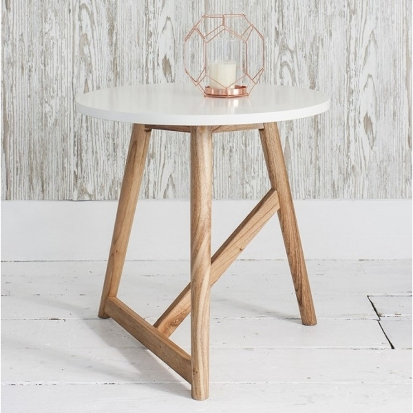 White Delilah Round Side Table