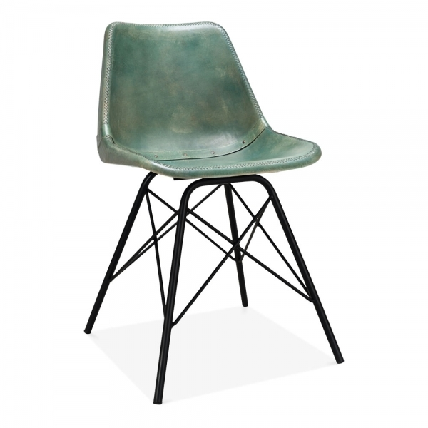 Cult Living Dexter Leather Dining Chair Green