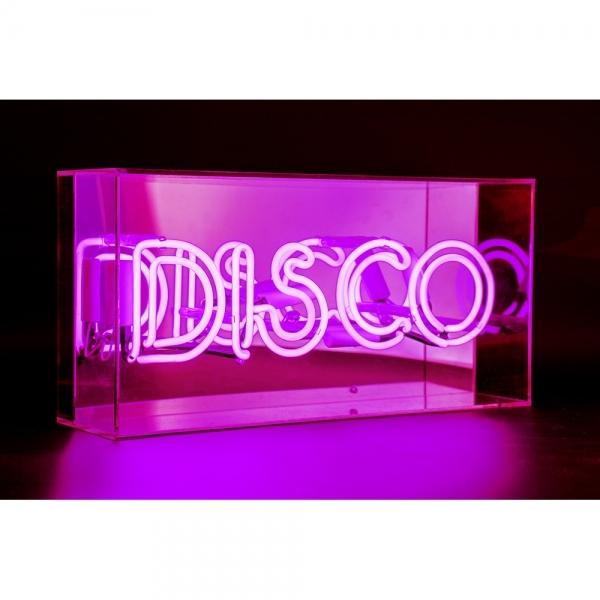 Pink Neon Disco Sign Acrylic Box Light Neon Lighting And