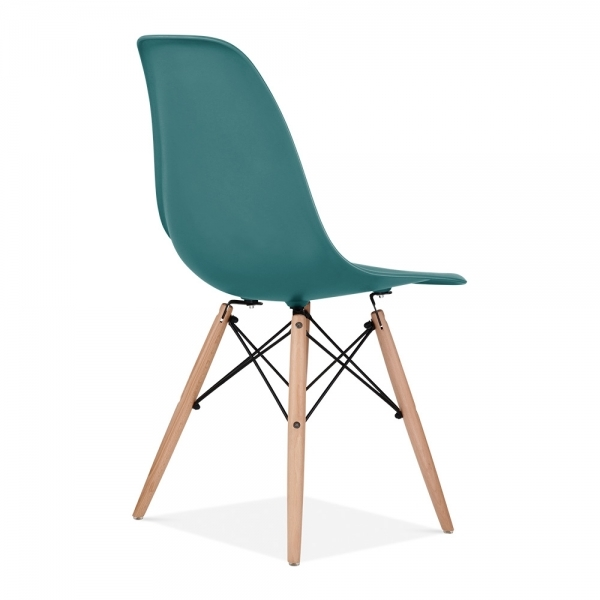 DSW Dining Chair, Natural Leg, Teal