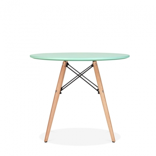 Eames Inspired DSW Peppermint Kids Round Dining Table - Diameter 60cm