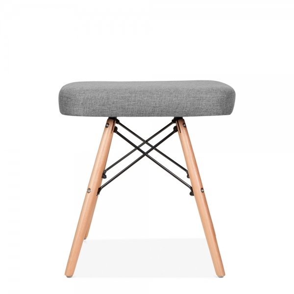 Superb Scandi Designs Dsw Style Low Stool Fabric Upholstered Seat Grey 45Cm Dailytribune Chair Design For Home Dailytribuneorg
