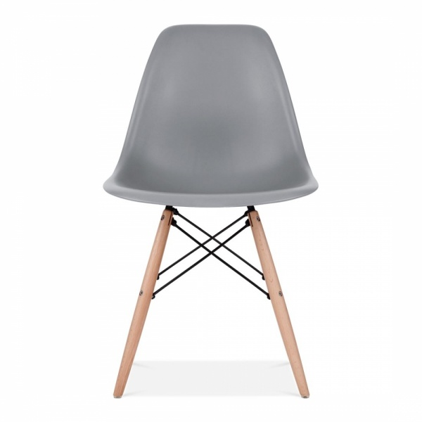DSW Style Plastic Dining Chair, Cool Grey