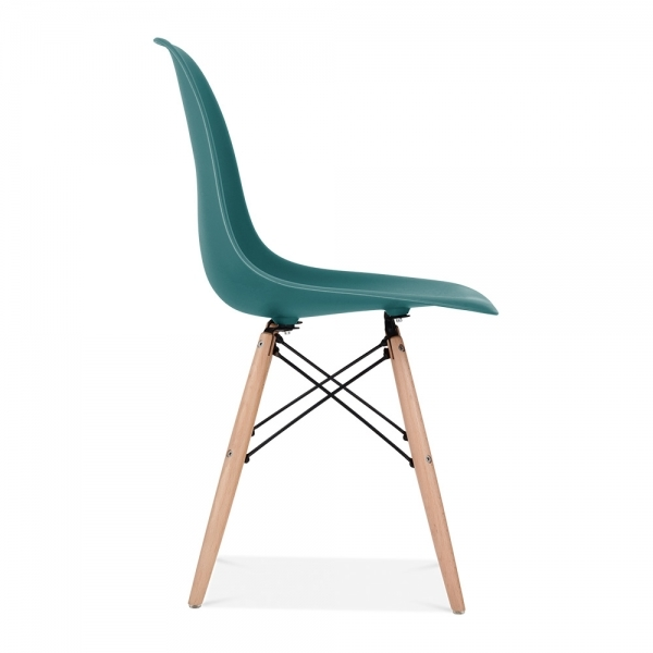 teal charles eames style dsw chair side cafe chairs cult uk