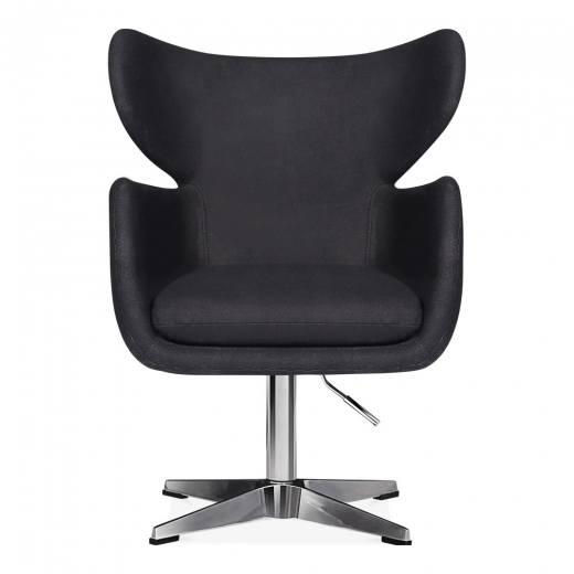 Cult Design Duchess Swivel Lounge Chair, Wool Upholstered, Black