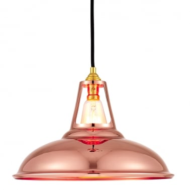 Dulwich industrial pendant light copper