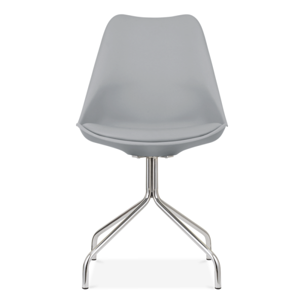 Eames Inspired Dining Chairs With Metal Cross Legs   Cool Grey