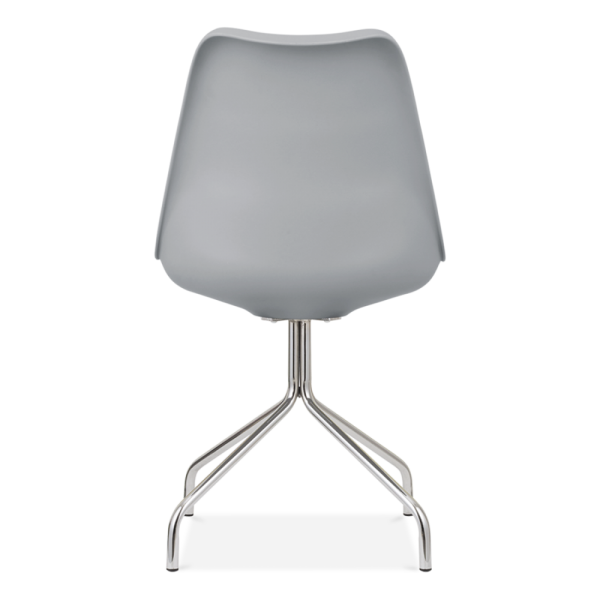 Lovely Eames Inspired Dining Chairs With Metal Cross Legs   Cool Grey