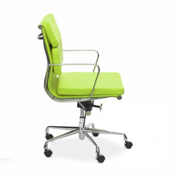 Eames Inspired Lime Green Short Back Soft Pad Executive Office Chair