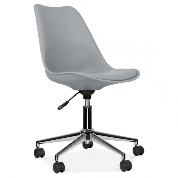 cool gray office furniture. eames inspired office chair with soft pad seat  cool grey