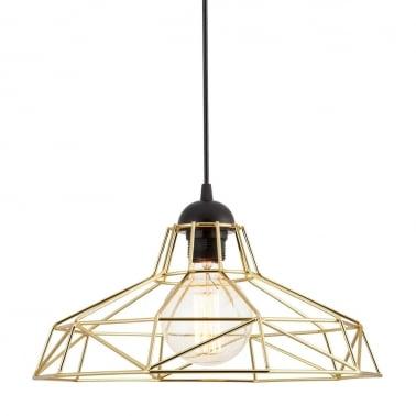 industrial contemporary lighting. industrial harlow cage light - gold industrial contemporary lighting