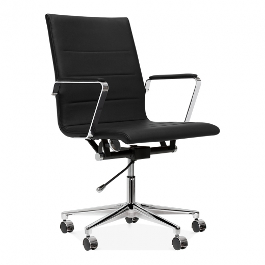Cult Living Ellington Office Chair in PU Leather - Black