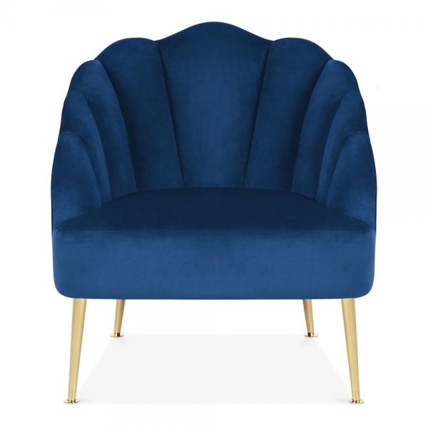 Peachy Evelyn Accent Chair Velvet Upholstered Royal Blue Machost Co Dining Chair Design Ideas Machostcouk
