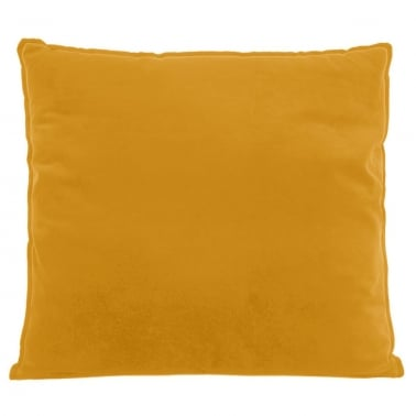 Extra Large Floor Cushion, Velvet Fabric, Mustard