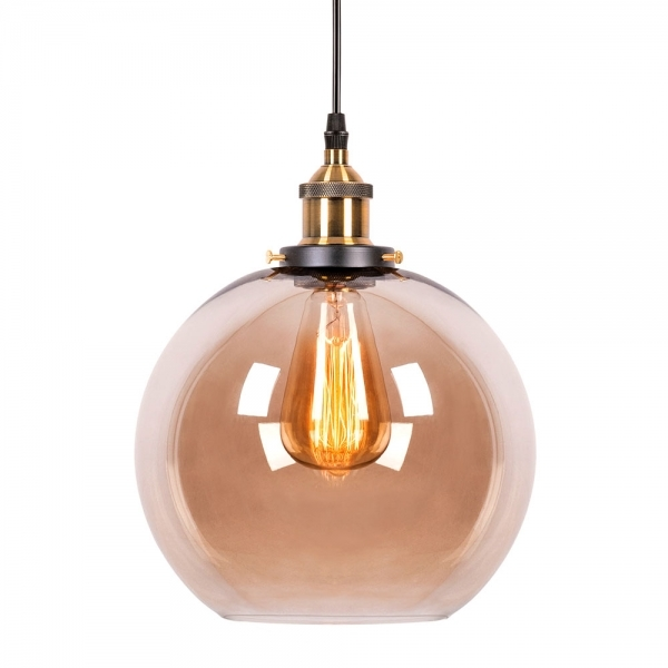 Coffee Glass Factory Sphere Pendant Light Bar