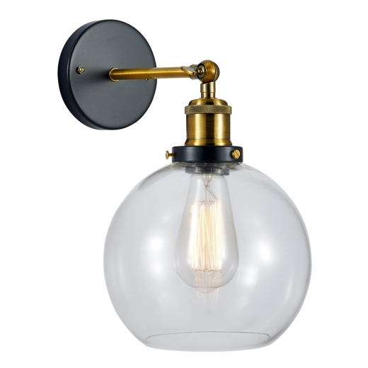 Cult Living Factory Glass Sphere Wall Light - Gold / Clear