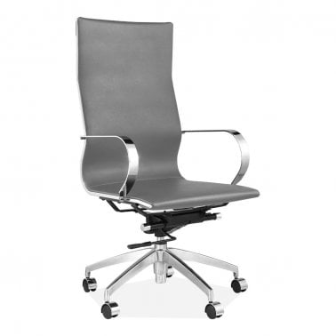 Nice office chairs uk Executive Forbes High Back Office Chair Faux Leather Upholstered Light Grey Nextcouk Office Chairs Modern Executive Office Chairs Cult Uk