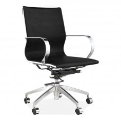 Forbes Short Back Office Chair Faux Leather Upholstered Black