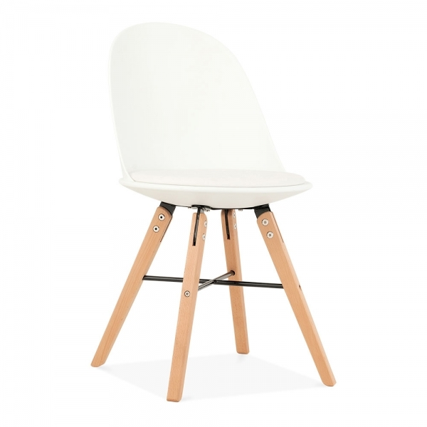 Swell Frida Plastic Dining Chair Beech Wood Leg White Beatyapartments Chair Design Images Beatyapartmentscom