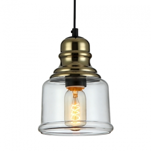 Cult Living Glass Lantern Small Pendant Light - Gold / Clear
