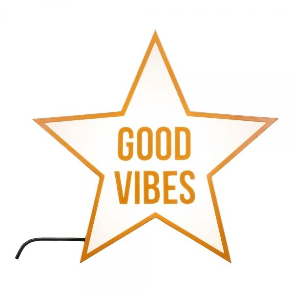 Cult Living Good Vibes Only Star Light Box Copper Cult
