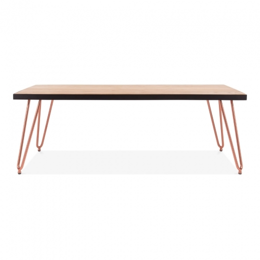 Copper And Wood Coffee Table: Copper 122cm Hairpin Rectangular Coffee Table With Solid