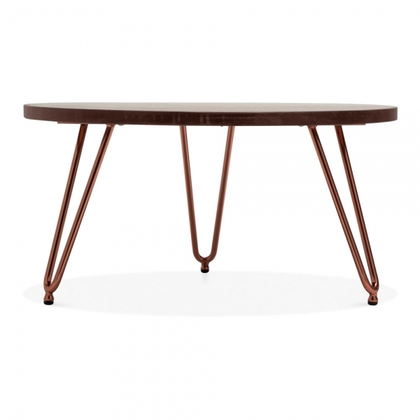 Copper And Wood Coffee Table: Cult Living Copper 71cm Hairpin Table