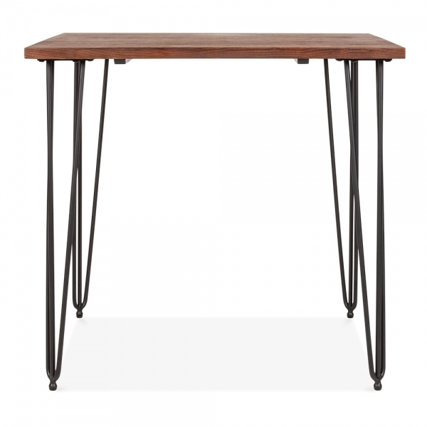 Solid Wood Top Black 82cm