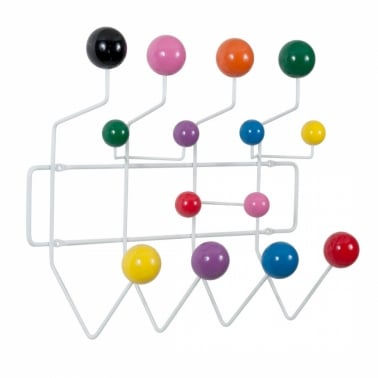 Hang It All Coat Hanger with Multicoloured Balls, White