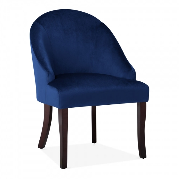 Blue Modern Accent Chairs.Harlow Modern Accent Chair Velvet Upholstered Royal Blue