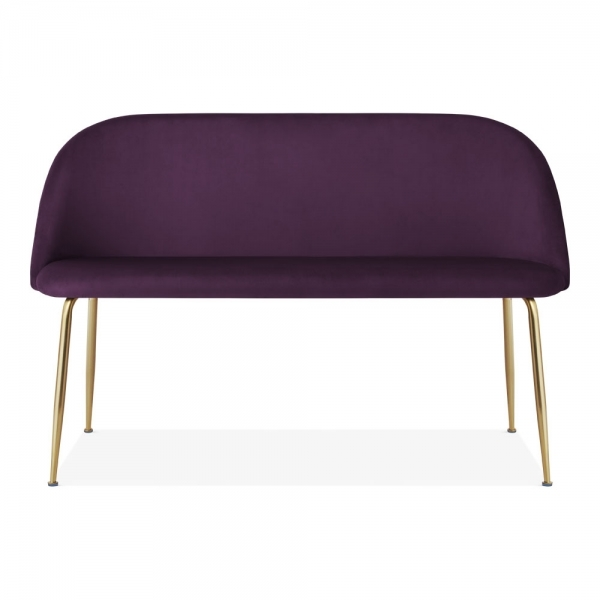 Fabulous Heather Loveseat Sofa Velvet Upholstered Purple Gmtry Best Dining Table And Chair Ideas Images Gmtryco