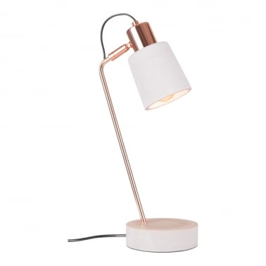 Heston Concrete Desk Lamp, Copper