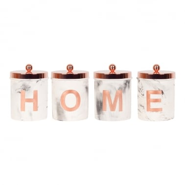 HOME Marble Jars Set of 4 - Copper