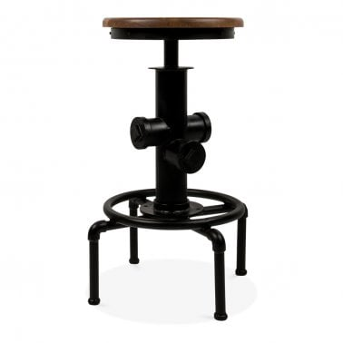Houston Metal Bar Stool Black 75cm