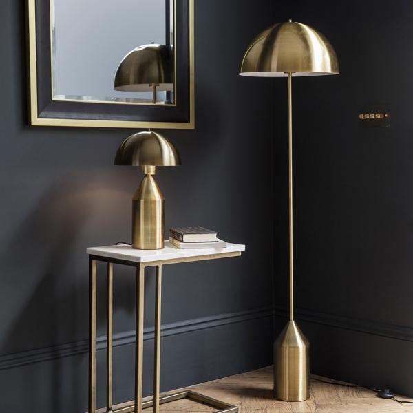 Hudson Contemporary Metal Floor Lamp, Gold