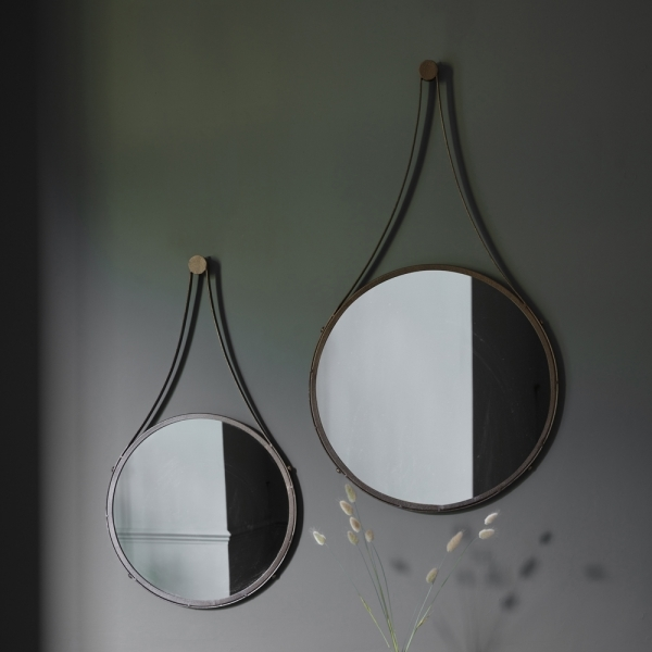 Large Round Hugo Wall Mirror Contemporary Wall Mirrors