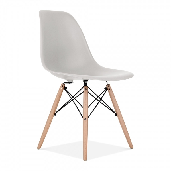 Iconic Designs Dsw Style Plastic Dining Chair Light Grey